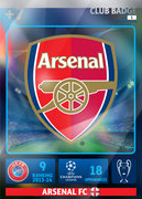 Adrenalyn XL 2015 Arsenal Cards