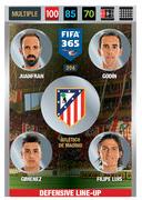 Adrenalyn XL FIFA365 2017 Defensive Line Up Cards