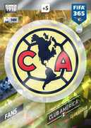 Adrenalyn XL FIFA365 2018<br>Club America Cards