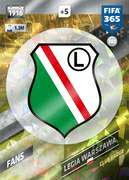 Adrenalyn XL FIFA365 2018<br>Legia Warsaw Cards