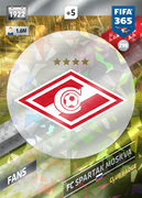 Adrenalyn XL FIFA365 2018<br>Spartak Moscow Cards