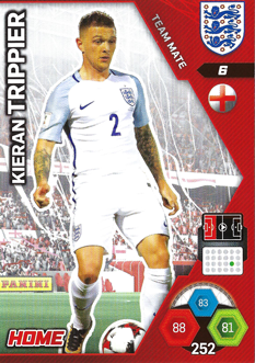 Adrenalyn XL England 2018 Home Kit Cards