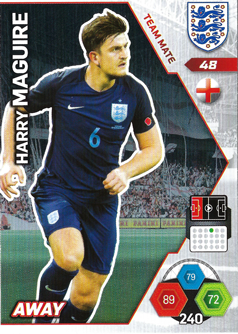 Adrenalyn XL England 2018 Away Kit Cards