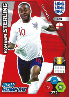Adrenalyn XL England 2018 New Kit Home Cards