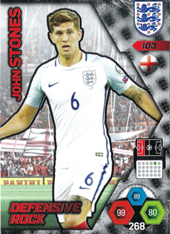 Adrenalyn XL England 2018 Defensive Rock Cards