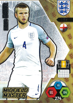 Adrenalyn XL England 2018 Midfield Master Cards