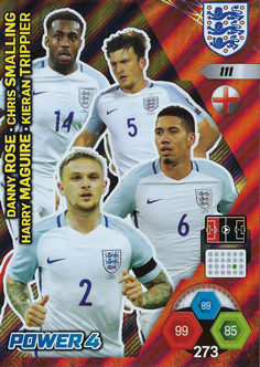 Adrenalyn XL England 2018 Power 4 Cards
