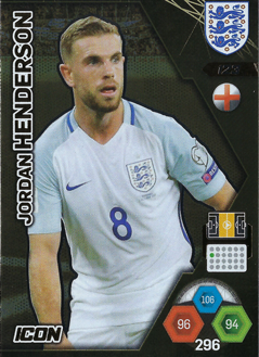 Adrenalyn XL England 2018 Icon Cards
