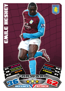 Match Attax 2012 Aston Villa Cards