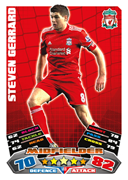 Match Attax 2012 Liverpool Cards