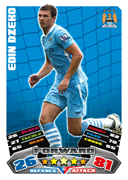 Match Attax 2012 Manchester City Cards
