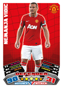 Match Attax 2012 Manchester United Cards