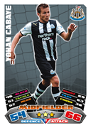 Match Attax 2012 Newcastle United Cards