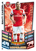 Match Attax 2013 Arsenal Cards