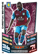 Match Attax 2013 Aston Villa Cards