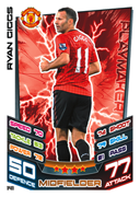 Match Attax 2013 Manchester United Cards
