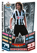 Match Attax 2013 Newcastle United Cards