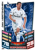 Match Attax 2013 Tottenham Hotspur Cards