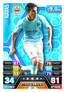 Match Attax 2014 Manchester City Cards