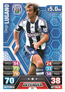 Match Attax 2014 West Bromwich Albion Cards