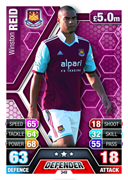 Match Attax 2014 West Ham United Cards