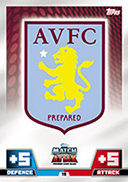 Match Attax 2015 Aston Villa Cards