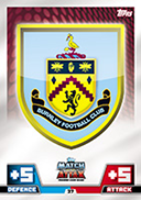 Match Attax 2015 Burnley Cards