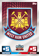 Match Attax 2015 West Ham United Cards