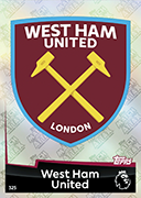 Match Attax 2019 West Ham United Cards