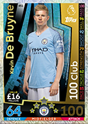 Match Attax 2019 100 Club Cards