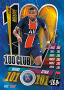 Match Attax 2021 100 Club Cards