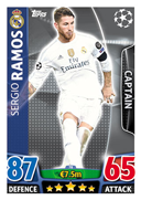 Champions League Match Attax 2016 Real Madrid Cards