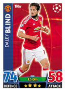 Champions League Match Attax 2016 Manchester United Cards