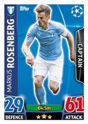 Champions League Match Attax 2016 Malmo Cards