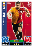 Champions League Match Attax 2016 Galatasaray Cards