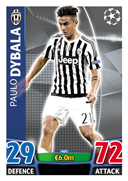 Champions League Match Attax 2016 Juventus Cards