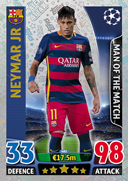 Champions League Match Attax 2016 Man Of The Match Cards