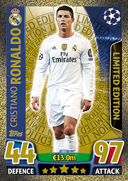Champions League Match Attax 2016 Limited Edition Cards