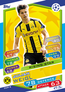 Champions League Match Attax 2017<br />Rising Stars Cards