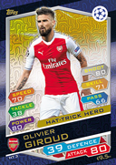 Champions League Match Attax 2017<br />Hat Trick Heroes Cards