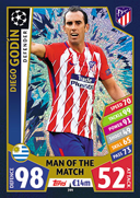 Champions League Match Attax 2018<br />Man Of The Match Cards
