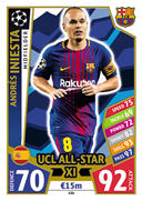 Champions League Match Attax 2018<br />UCL All Star XI Cards
