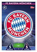 Champions League Match Attax 2019<br />Bayern Munich Cards