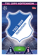Champions League Match Attax 2019<br />Hoffenheim Cards