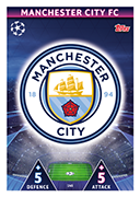 Champions League Match Attax 2019<br />Manchester City Cards