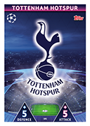 Champions League Match Attax 2019<br />Tottenham Hotspur Cards