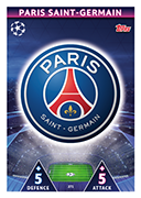 Champions League Match Attax 2019<br />Paris Saint-Germain Cards