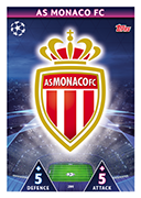 Champions League Match Attax 2019<br />AS Monaco Cards