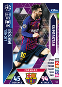 Champions League Match Attax 2019<br />Superstar Cards