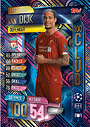 Champions League Match Attax 2020 100 Club Cards